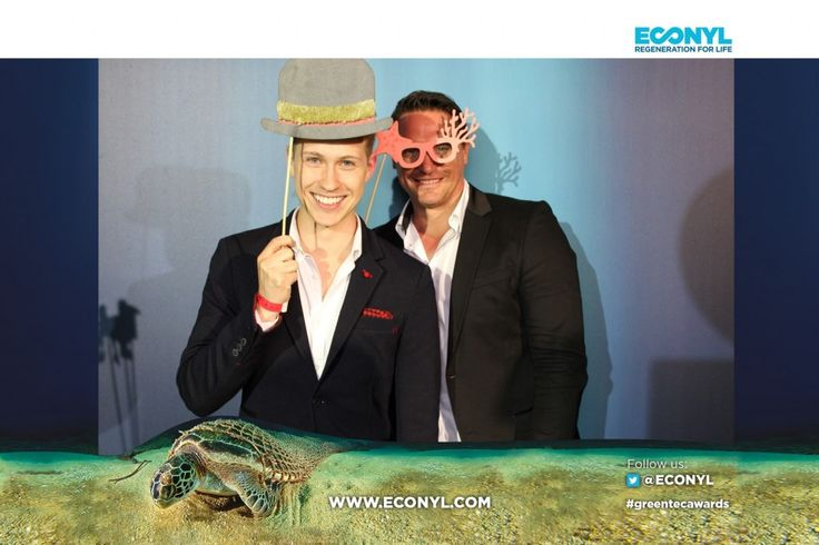 ECONYL® at the GreenTec Awards 2015 in Berlin. The Green Carpet was made by Vorwerk using ECONYL® regenerated yarn coming from fishing nets, old carpets and other pre-consumer waste. At the event we had also a photo booth with funny props inspired by our regeneration of carpets, nets and by the marine world we are fighting to save. #ethical #fashion and #design#sustainability