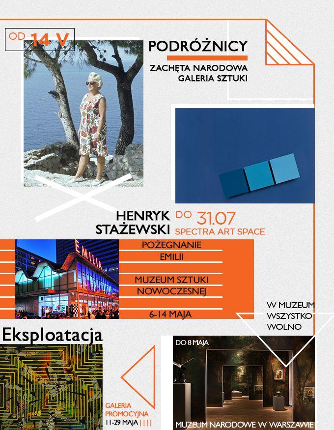 Majówka za pasem, wiosna też już hula. Pora ruszyć się z domów! Zabieramy was na najciekawsze wystawy w tym miesiącu. W planach Warszawa, Kraków, Toruń, Wrocław i Katowice.