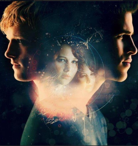 Gale, Peeta, and Katniss.... <3