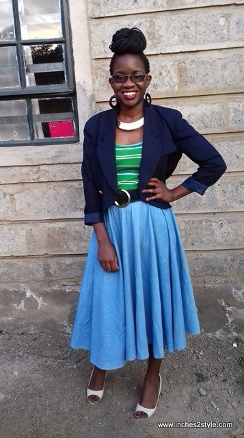 Birthday Outfit Circa 2015: Chambray Midi Skirt
