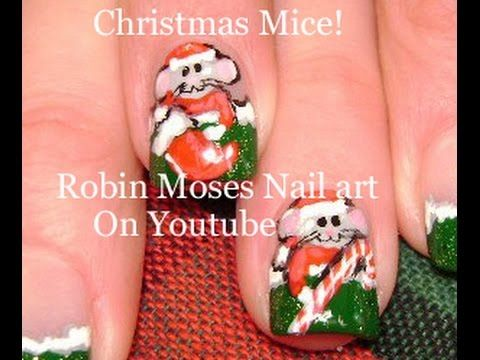 179 best christmas nail art pictures with tutorials images on christmas nails cute xmas mouse nailart design tutorial prinsesfo Choice Image