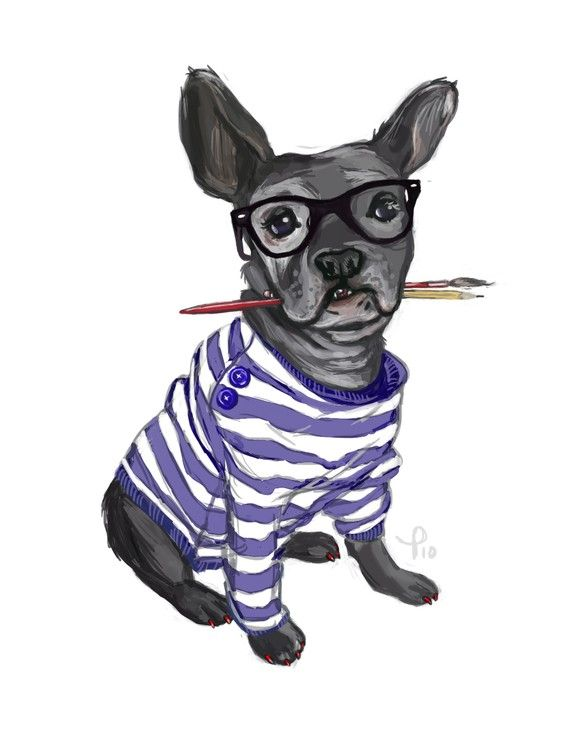 Hipster French Bulldog