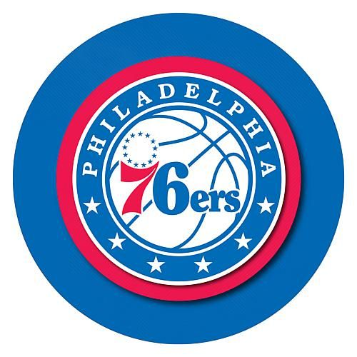 Trademark Global, Inc. Philadelphia 76ers Padded Swivel Bar Stool with Back