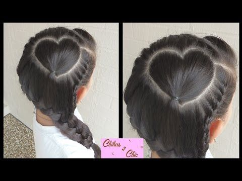 Corazon Perfecto con Trenza! Para San Valentin-Perfect Heart with Braid! Valentine's Day Chikas Chic - YouTube