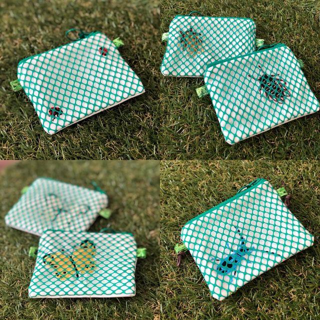 虫かごのおさいふ2020 昆虫 財布 小銭入れ 春夏3 8月限定 虫かご ハンドメイド キッズ 財布