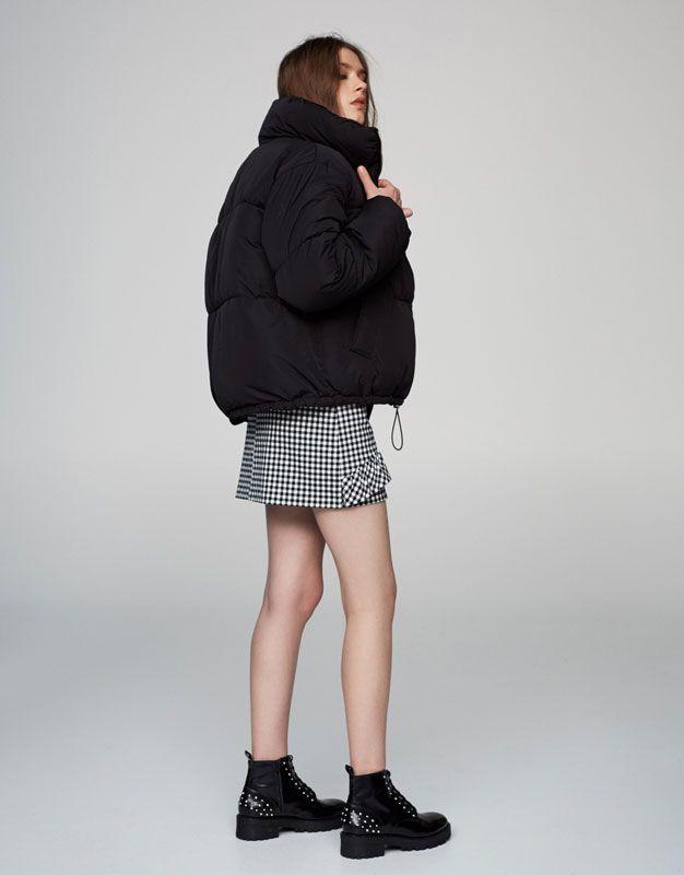 Blouson matelassé col cheminée - Dernières nouveautés - Vêtements - Femme - PULL&BEAR Suisse