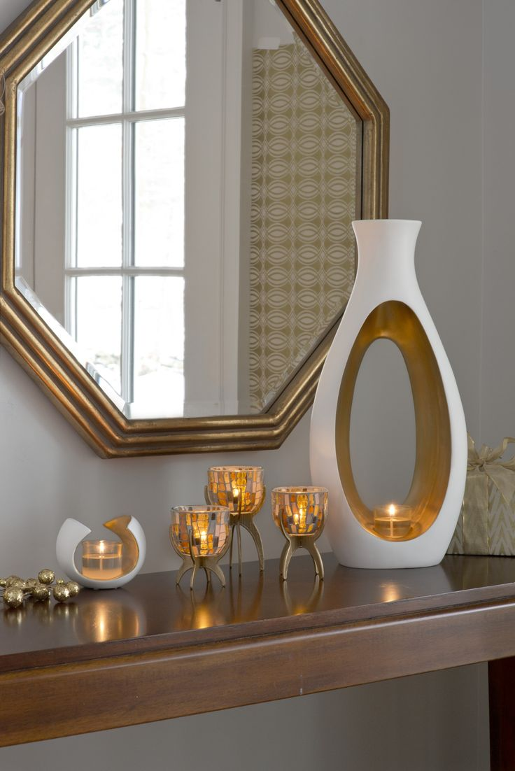 Vienna Tealight Trio and Embrace Votive Hurricane from PartyLite