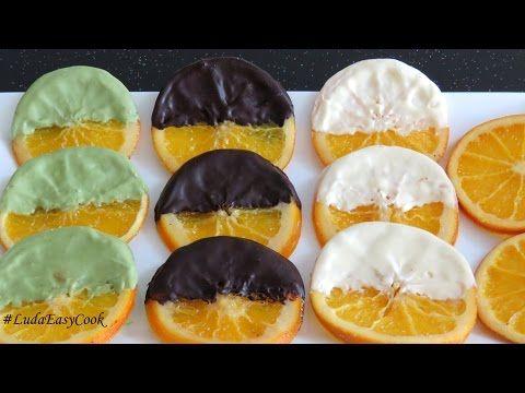 (1) [SUB] АПЕЛЬСИНОВЫЕ  ДОЛЬКИ в шоколаде Карамелизированные #апельсины Làm Caramel trang trí bánh gato - YouTube