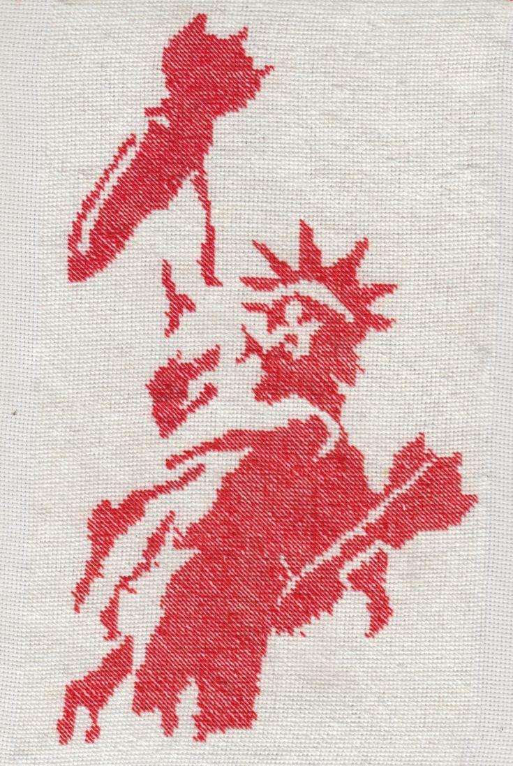 An Ongoing Craftivist Crossstitch Series Based On International Antiwar…