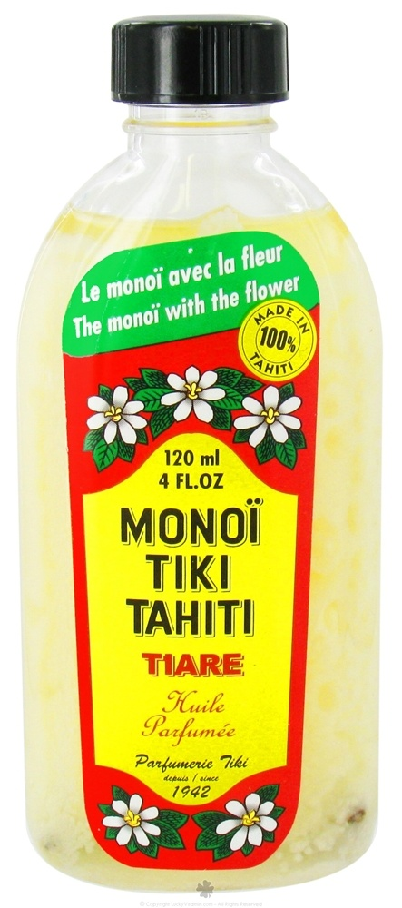 Monoï Tiki Tahiti - appellation contrôlée Tiare infused coconut oil from Tahiti. Fragrant as fuck  and skin-so-soft soothing, this prod is the absolute T.