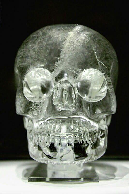 The famed crystal skull.