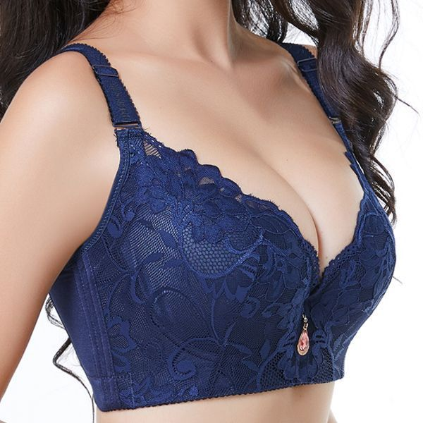 e3a83bbc36 Adhesive bra fashion forms plus size lace-trim plunge adjustable underwire  breathable gather thin bras