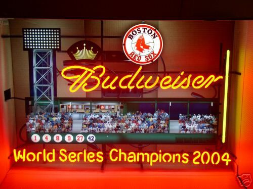 Large Budweiser Mirror Neon Signs Neon Lights Neon