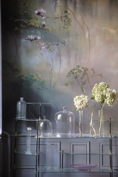intriguing wallcover in an entry. South Shore Decorating Blog: 50 Favorites for Friday #208