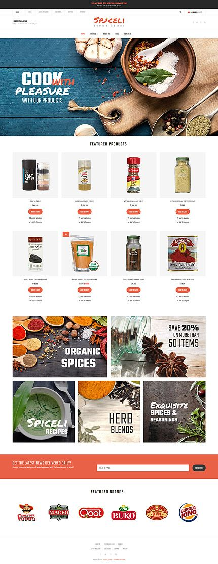 Organic Spices Online Store #Virtuemart #template. #themes #business #responsive