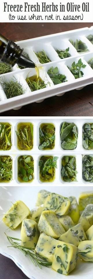 Brilliant!! Now I don't have to waste my left over, store bought herbs!