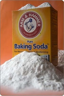 Homemade OxyClean    1 cup water  1/2 cup hydrogen peroxide  1/2 cup baking soda    Mix together and soak laundry in it for 20 minutes to overnight and then wash as usual. Or you can just skip the water and pour the peroxide and baking soda directly into the wash with your laundry soap and wash as usual.