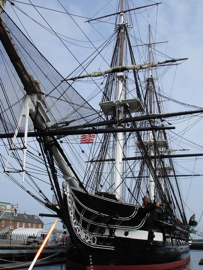 Old Iron Side. USS Constitution, located in Boston, a stop on the Freedom Trail—not open on Mondays.