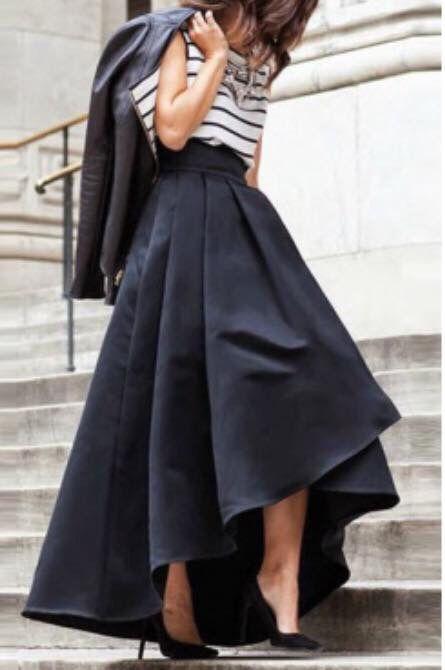 Falda larga elegante                                                                                                                                                                                 Más