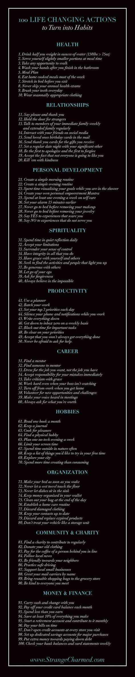 17 best ideas about change my life positive changes control your habits control your life try turning some of these 100 life changing