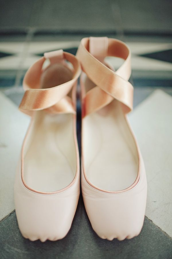 Blush ballerinas
