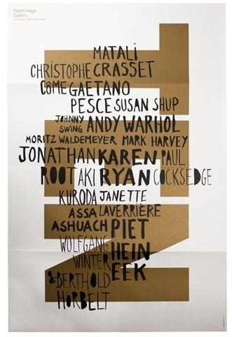 Rabih Hage Gallery / TEN exhibition poster  catalogue