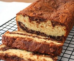 Low Carb Nutella Swirl Tea Loaf - homemade sugar-free nutella swirled into a delicious almond flour quick bread.
