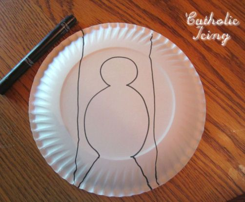 paper plate dove instructions