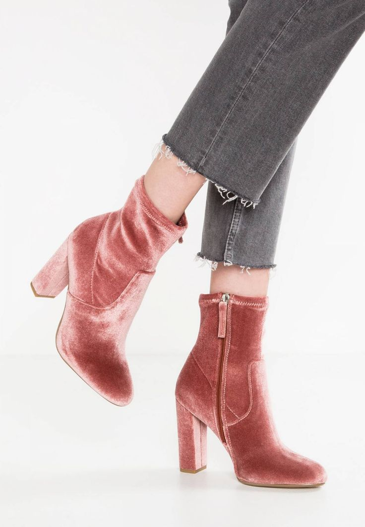EDITT - High heeled ankle boots - rose
