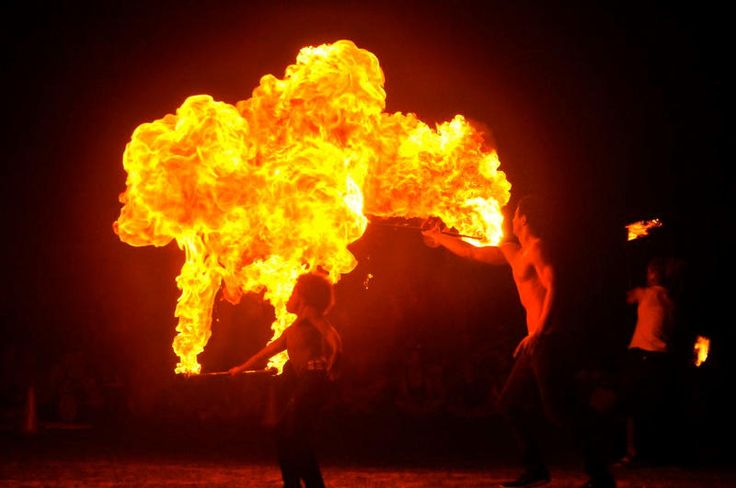 Sunday night fire twirling at Burleigh - Gold Coast Photos - My Destination Gold Coast