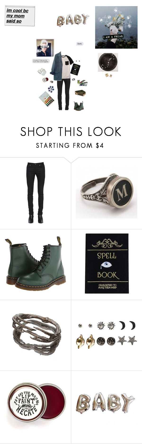 """""""Mr. malfoy"""" by peachhipster on Polyvore featuring Yves Saint Laurent, Reef, Dr. Martens, Hasbro, Wet Seal, Paul Mitchell, HUGO, Ultimate, men's fashion and menswear"""
