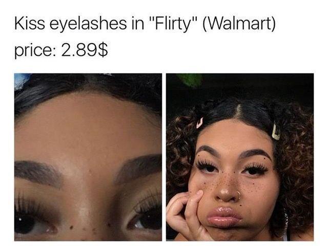 false eyelashes (falsies)