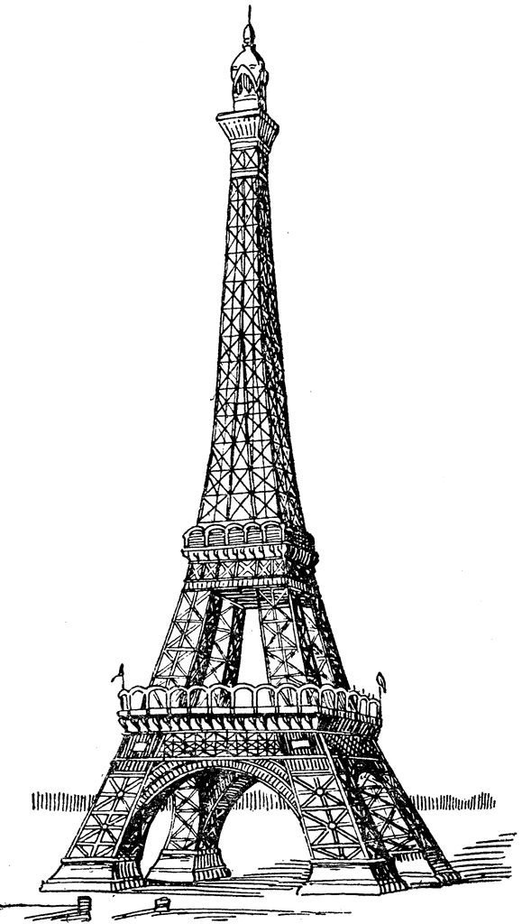 Eiffel Tower FREE CLIP ART SMALL MED LARGE