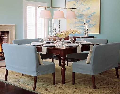 Great Loveseats At The Dinner Table!