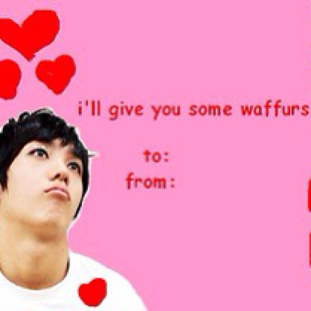 Kpop Valentine Cards Ahaha Why That Picture Why That Picture