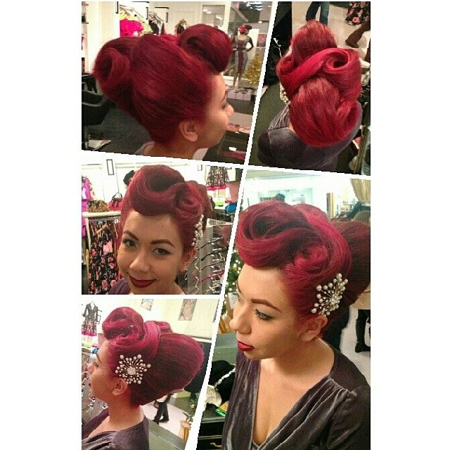 A Crazy Updo I Did On My Lovely Coworker Justine At The Pinup Girl Boutique -9783