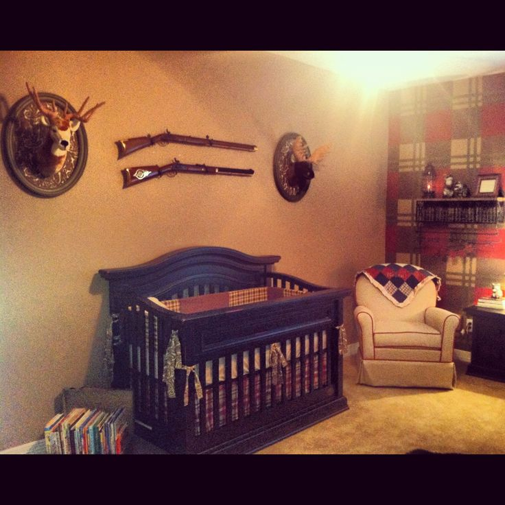Hunting lodge nursery baby room pinterest for Hunting themed room for boys