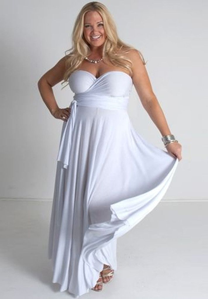 A white version of our bestselling, interchangeable wrap dress! This is one dress you can wrap dozens of ways, for endless wardrobe possibilities. From formal wear to a the beach, this one dress can take you from day to night and back again… All depending on how you wrap it! Shop www.curvaliciousclothes.com #PlusSize #PSFashion #Curvy #Style