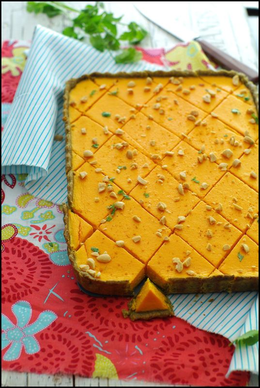 Tarte carotte coco pâte à tarte pesto coriandre ... une tarte vitaminée de bonne…