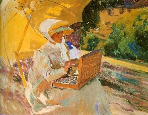 Joaquin Sorolla Famous Paintings | sketching lady painting,by Joaquin Sorolla…