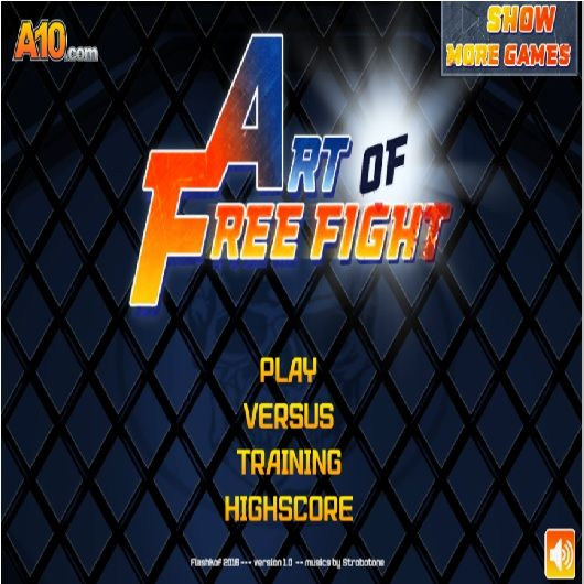 Art of Free Fight Club Join the Art of Free Fight Club, an epic fighting experience. Choose your fighter and start kicking some butts performing all kinds of combos. Get ready for an epic fighting tournament in this steel cage ring!