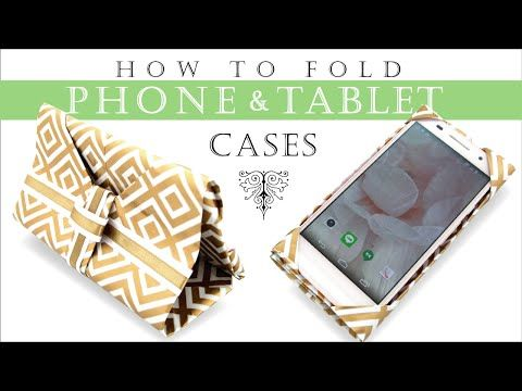 Origami Phone & Tablet case Just folding a sheet of paper (or other materials), no sewing needed. Can use as a stand, too  スマホ&タブレット スタンンドケースの作り方(折り方)