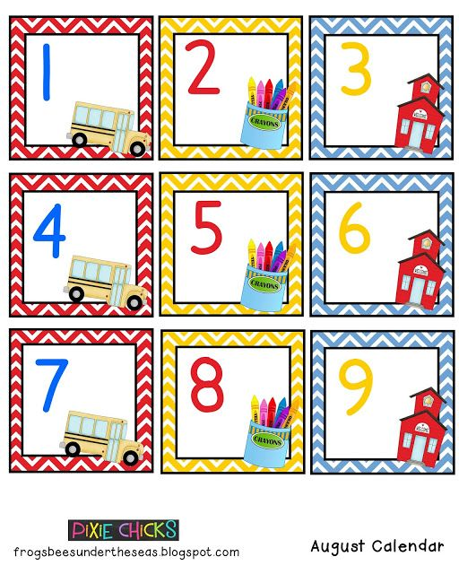 Calendar Number Printables : Free printable preschool calendar numbers images