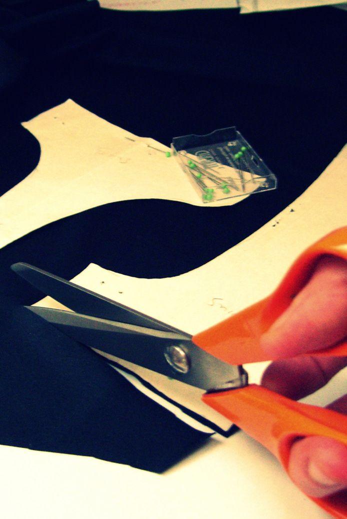 How I cut the fabric