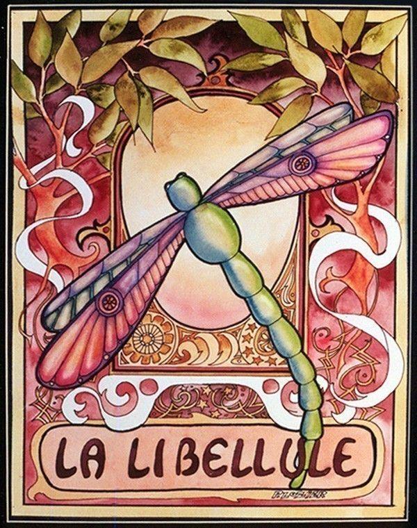 Dragonfly Illustration - Dragonfly Art - Dragonfly Painting Print. $18,50, via Etsy.
