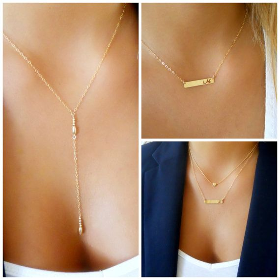 Triple Necklace Set Layered Gold Filled necklaces by annikabella