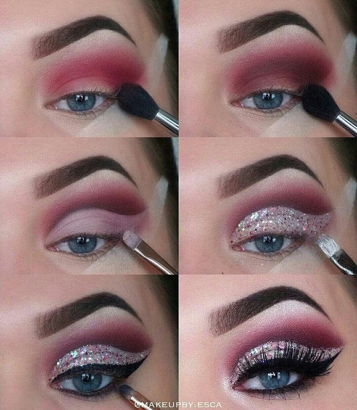 Step by step eyeshadow for an awesome makeup look. Use thus puctorial like a mak…