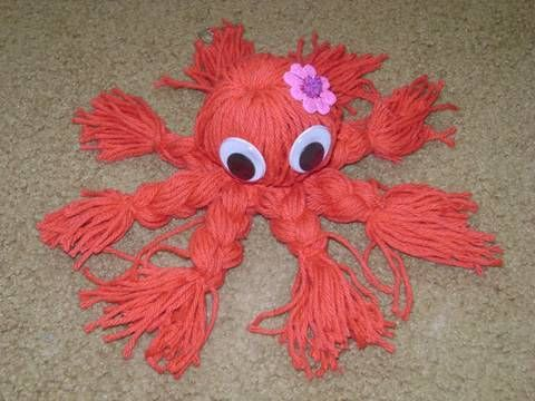 Make A Yarn Octopus Craft Sites Googly Eyes And Yarns