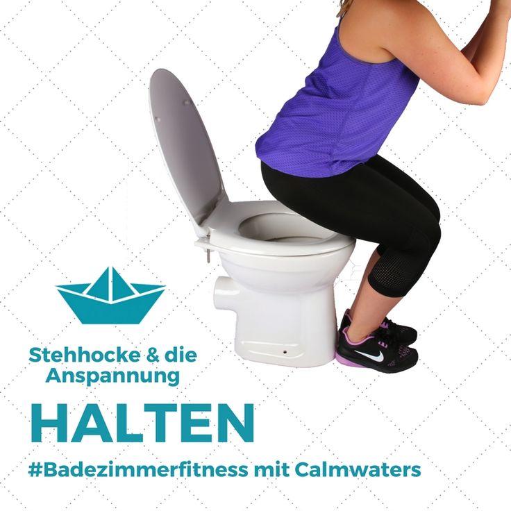 Einmal die Pomuskeln anspannen #Badezimmerfitness #stehhocke #wc #toilet  #fitness #fitnessmotivation #workout #sport #bathroom