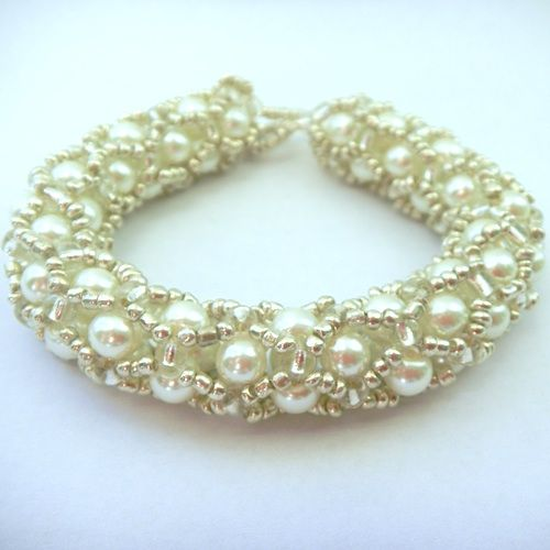 Bridal White Pearl & Silver Bracelet from Bedecked Beads.
